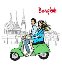 Couple in thailand vector