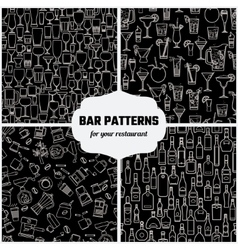 Drinks Seamless Pattern 1 vector image