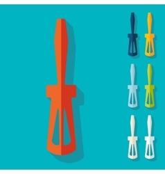 Flat design screwdriver vector image vector image