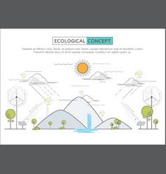 flat line eco concept vector image
