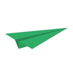 green paper plane model air vector image