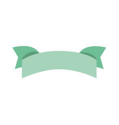 isolated decorative ribbon vector image