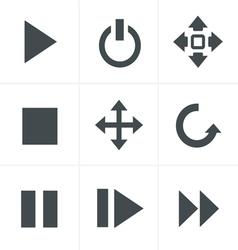 media Icons Set Design vector image vector image