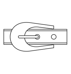 Narrow belt with buckle icon outline style vector