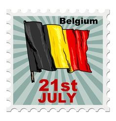 National day of belgium vector