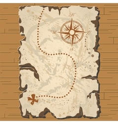 Old parchament treasure map vector
