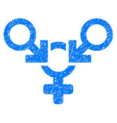polyandry grunge icon vector image