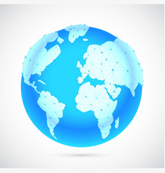 polygonal world globe vector image vector image