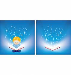 reading magic vector image