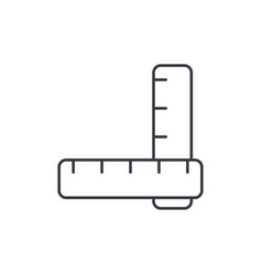 Ruler thin line icon linear symbol vector