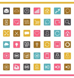 Set of 42 SEO internet icons vector image