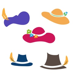 Sets of hats vector