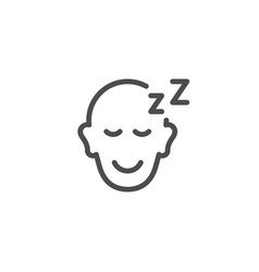 Sleeping person line icon vector