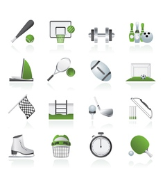 Sport objects icons vector image vector image