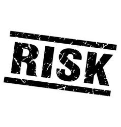 square grunge black risk stamp vector image vector image