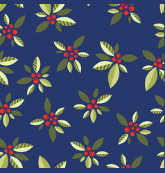 stylized berries on a blue background vector image vector image