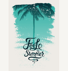 summer time phrase calligraphic grunge poster vector image vector image