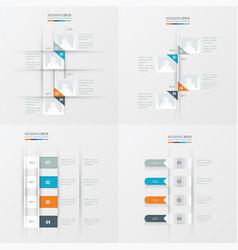 timeline 4 item orange blue gray color vector image vector image