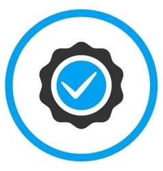 Valid stamp icon vector