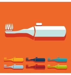Flat design electric toothbrush vector