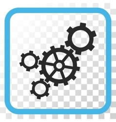 Mechanism icon in a frame vector