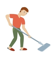 Cleaning service concept in flat design vector