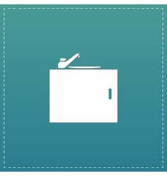 Kitchenware sink basin icon sign and button vector