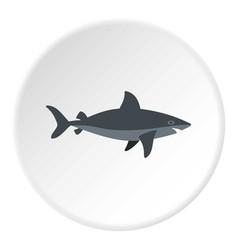 Grey shark fish icon circle vector