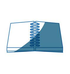 Open notebook spiral write supply work vector