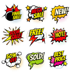 Best offer and sale promotional collection vector