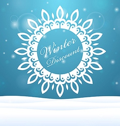 Winter sale snowflake outdoors vector