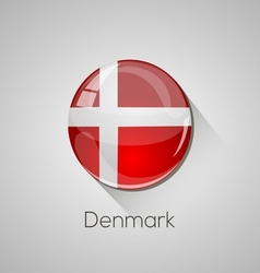 European flags set - denmark vector