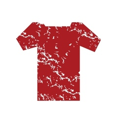 Red grunge tee shirt logo vector