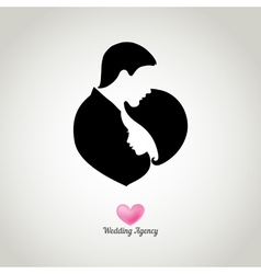 Weding agency logo vector