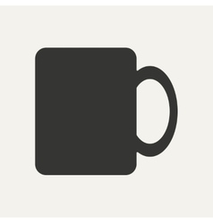 Flat in black and white mobile application cup vector