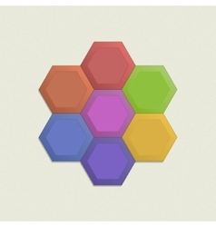 Colorful honeycomb set vector