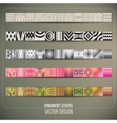 Abstract ornamental stripes vector