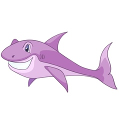 cartoon character shark vector image vector image