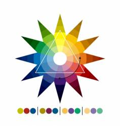 chromatic star vector image