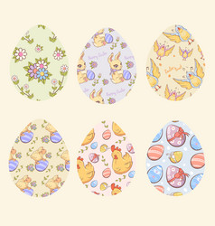decorative easter eggs set vector image