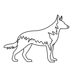 German wolfhound icon outline style vector image
