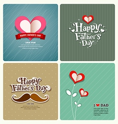 Happy fathers day love dad collections vector image