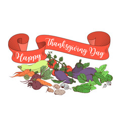 Happy thanksgiving day poster template with vector