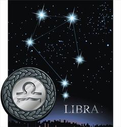 Libra zodiac sign Scale zodiac poster vector image vector image