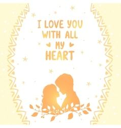 love card vector image vector image