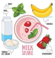 Milk shake vector image vector image