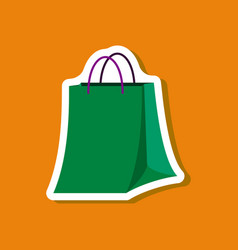 paper sticker fashion clothes paper bag vector image vector image