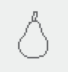 pear pixel icon in the eps 8 format vector image vector image