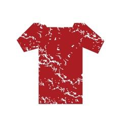 Red grunge tee shirt logo vector