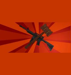 revolution red propaganda strong strike protest vector image vector image